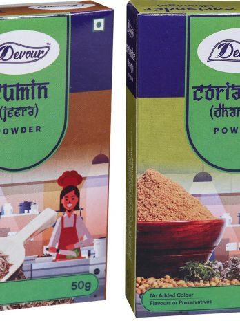 Cumin (Jeera) Powder & Coriander (Dhania) Powder-Combo Pack-50g