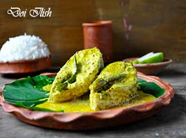 Doi Bhapa Ilish - Bengali Menu - Bisarga