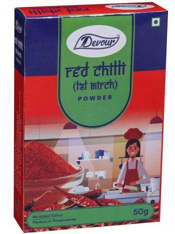 Devour Red Chilli (Lal Mirch) Powder-50g
