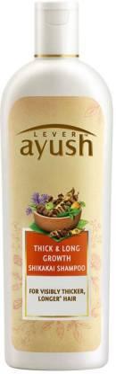 Lever Ayush Thick and Long Growth Shikakai Shampoo (330 ml)