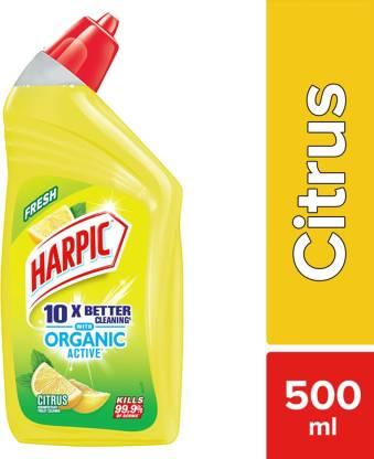 Harpic Organic Active 10X Citrus Liquid Toilet Cleaner (500 ml) – Bisarga Online Supermarket India