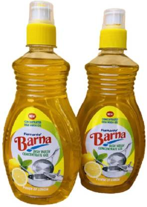Barna Dish Washing Concentrated Gel 500 ml Dish Cleaning Gel (Lemon, 2 x 500 L) – Bisarga Online Supermarket India