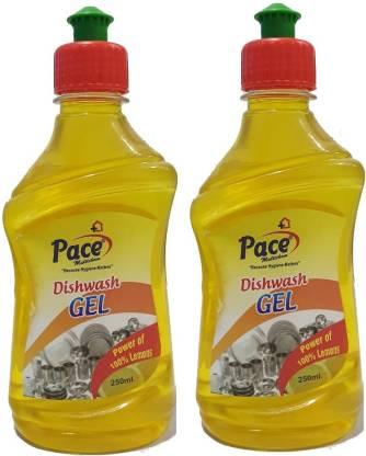 Pace Multichem Dish Washing gel Dish Cleaning Gel (Lemon, 2 x 0.25 L) – Bisarga Online Supermarket India