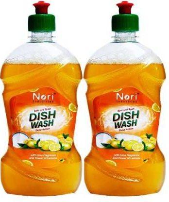 Nori industries Original Dish washing Liquid Geen 750ml Dish Cleaning Gel (LEMON, 2 x 0.75 L- Bisarga Online Supermarket India
