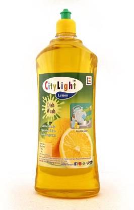 City Light Dishwash Liquid Dishwashing Gel Lemon Dish Washing Liquid Organic Yellow 1 litter Dish Cleaning Gel (lemone, 1 L) – Online Grocery Shopping In India