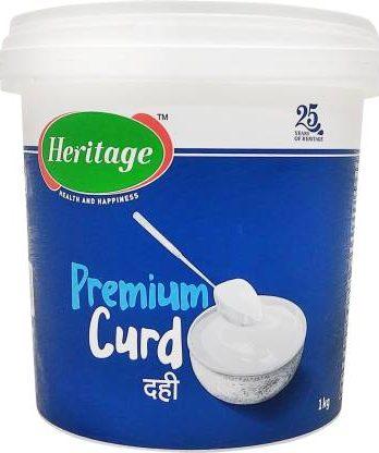 Heritage Premium Plain Curd  (1 kg) – Bisarga Online Supermarket India
