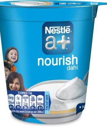 Nestle a+ Slim Dahi Plain Curd (400 g) – Bisarga Online Supermarket India