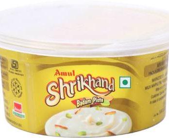 Amul Shrikhand Flavored Curd Badam, Pista (200 g) – Bisarga Online Supermarket India