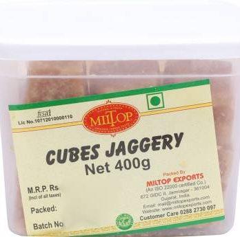 MilTop Cubes Block Jaggery  (400 g)